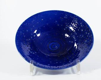 Modern Ceramic Farmhouse Bowl | Blue Dish | Handmade Unique | 334