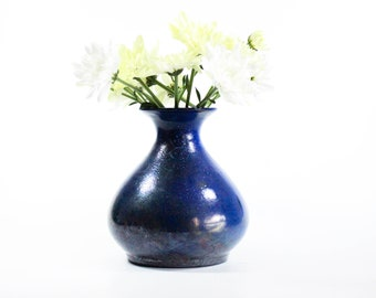 Raku Ceramic Bud Vase | Handmade Balloon Vase | Modern Home Decor | 364