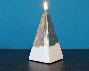 Designer Ceramic Oil Lamp Pyramid Vintage Unique Decorative Lamp Table Lamp Model 16 [900]