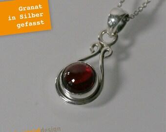 22809651b1 Silber-Kette Granat verziert - Silber 925 - SHK