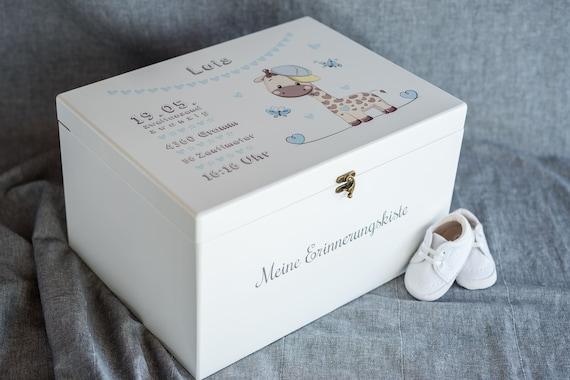 personalisierbar Weihnachtsgeschenk Baby Spielzeugkiste Gro\u00dfe Erinnerungskiste mit Fotodruck Taufgeschenk Geburtsgeschenk