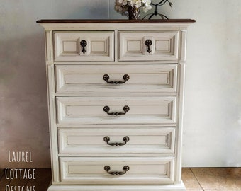 Hand Painted Farmhouse Style Dresser, Shabby Chic, Storage