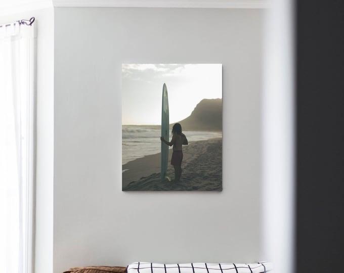 Logging Days One - Canvas Print / Africa Surf Photography Longboard Beach Surfer