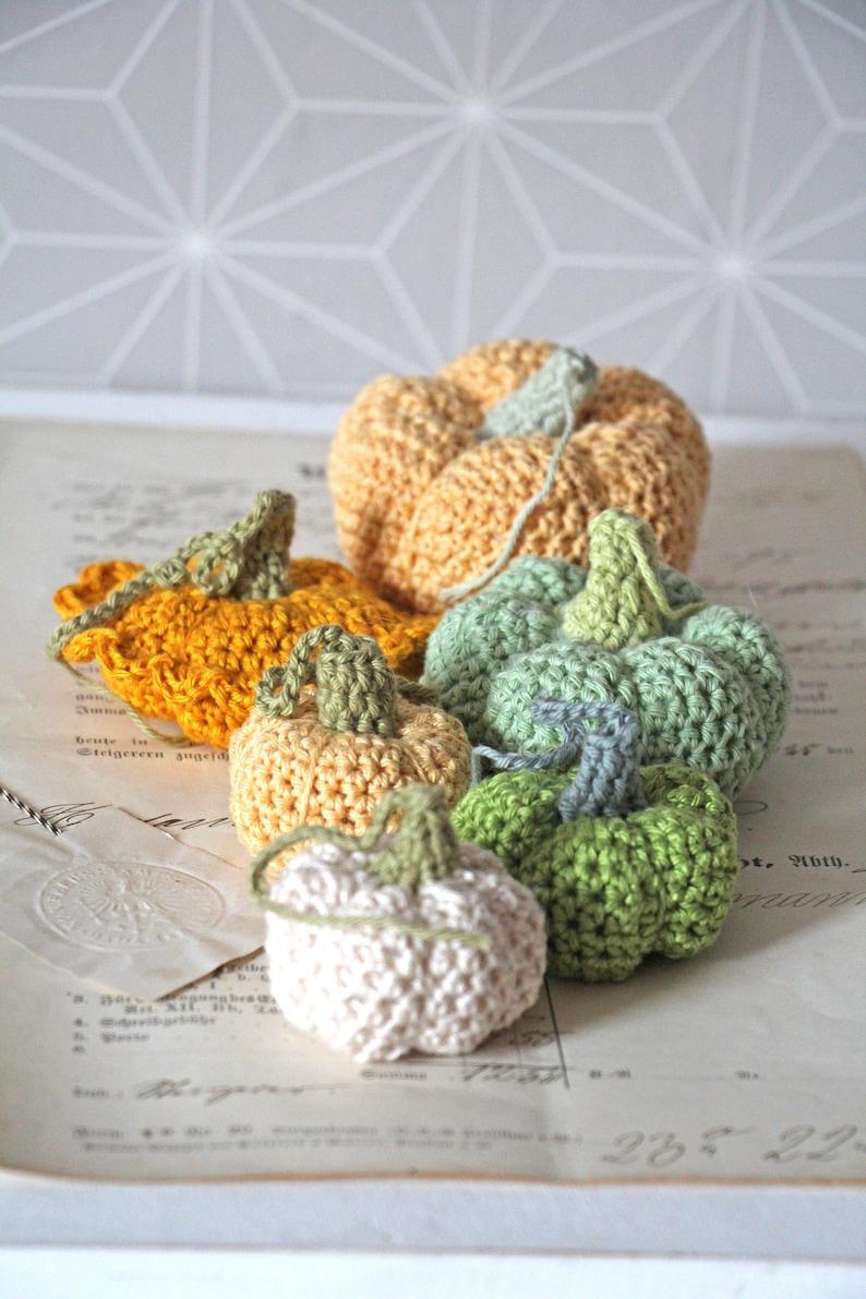 Häkelkürbis Häkeln Pumpkin 5 Größen und Farben  Auswahl  image 0