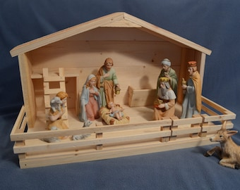 Christmas Nativity Stable - Large 30% off - Nativity Set not included