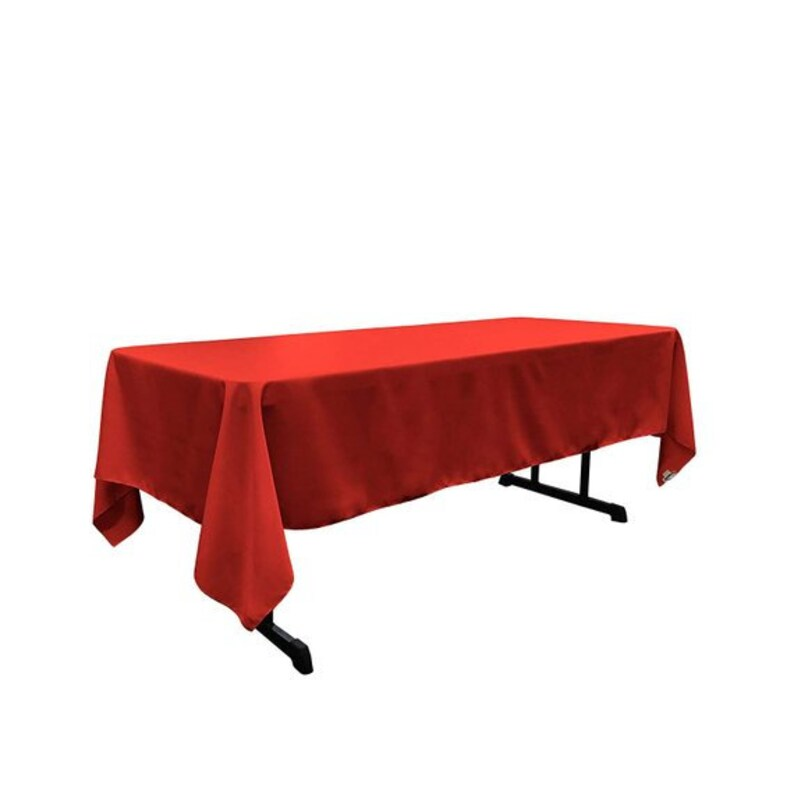 Rectangular Polyester Tablecloth 60 x 144 Inches Red decorations wedding prom decor runners outdoor tablecloths DJ tablecloths shop