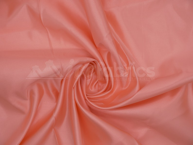Peach Silky Bridal Satin Fabric By The Yard /_ Charmeuse Thick Heavy Satin Fabric/_ 60 wide/_ Wholesale Price