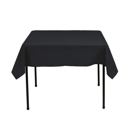 Square Tablecloth 60 X Inch Black, Tablecloths For 60 Inch Round Tables