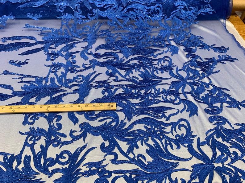 Section Blue 1 yard 100/% Silk Dupion Silk Dupioni Fabric Denim D028