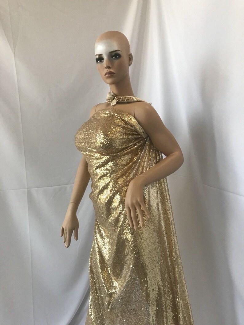 183a19d662 Wesele Top cekiny złoty Mesh koronki sukienka tkanina moda na