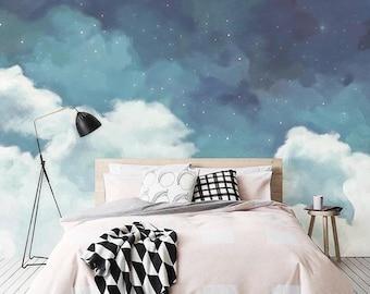 Bedroom wallpaper   Etsy