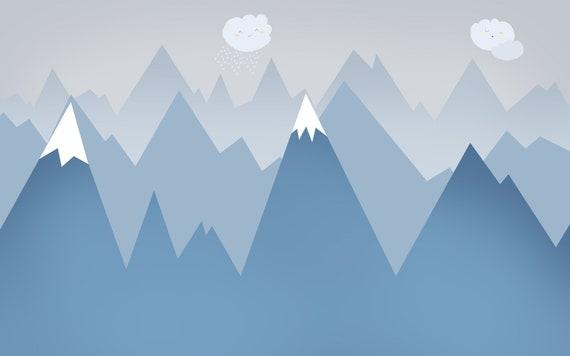Snowy Mountain Peak Removable Matte Sticker Sheets Set