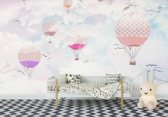Colorful Balloon Wallpaper For Girls Room Removable Mural Baby