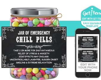 Chill Pills Etsy