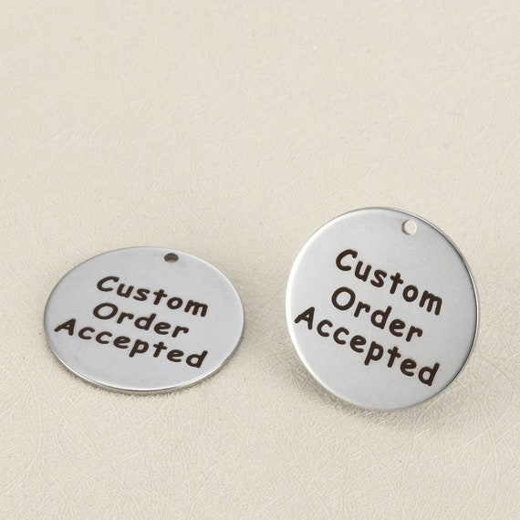 custom jewelry tags engraved jewelry tags stainless steel disc etsy