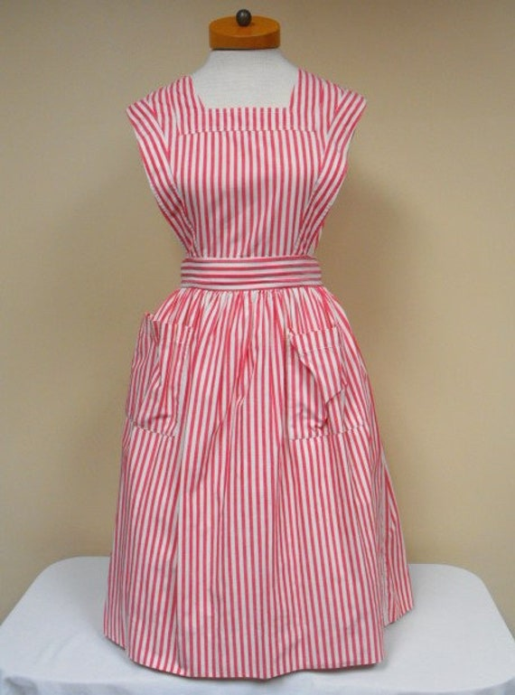 Vintage 1950's Pinafore Dress - Size Small