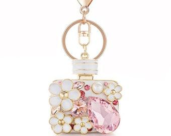 67797efbfec7 Perfume Bottle Crystal Keychain
