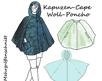 Poncho Cape Schnittmuster