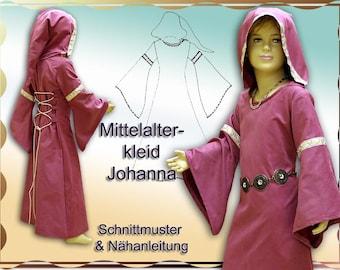 Schnittmuster e-book Mittelalterkleid für Mädchen