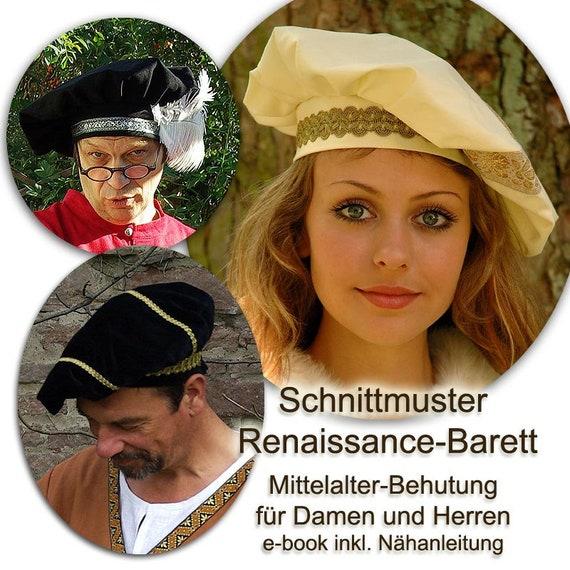 Mittelalter Barett Behutung Schnittmuster e-book | Etsy