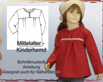 Mittelalterhemd Schnittmuster für Kinder