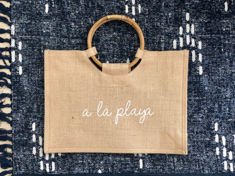 A La Playa Beach Tote Customizable bachelorette party bags image 0