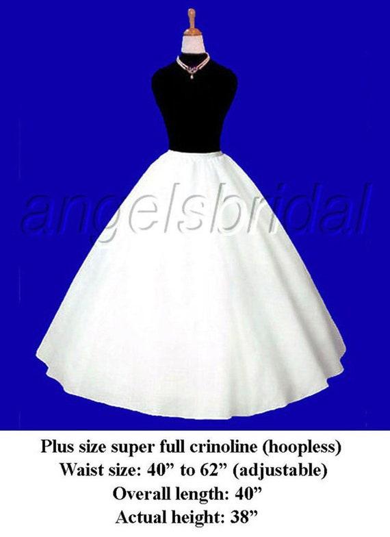 Plus Size Super Full A Line Petticoat Crinoline Bridal Wedding Etsy