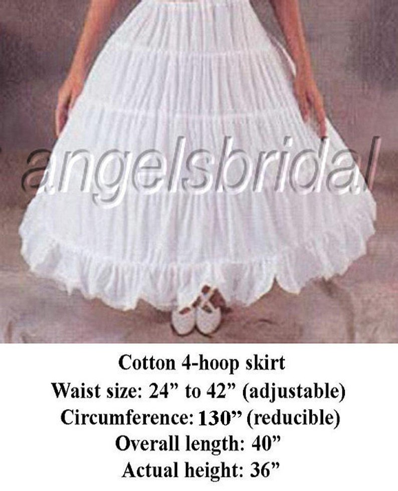 df2e95b5bf07c Cotton 4-Hoop Petticoat Crinoline Bridal Wedding Gown Dress | Etsy