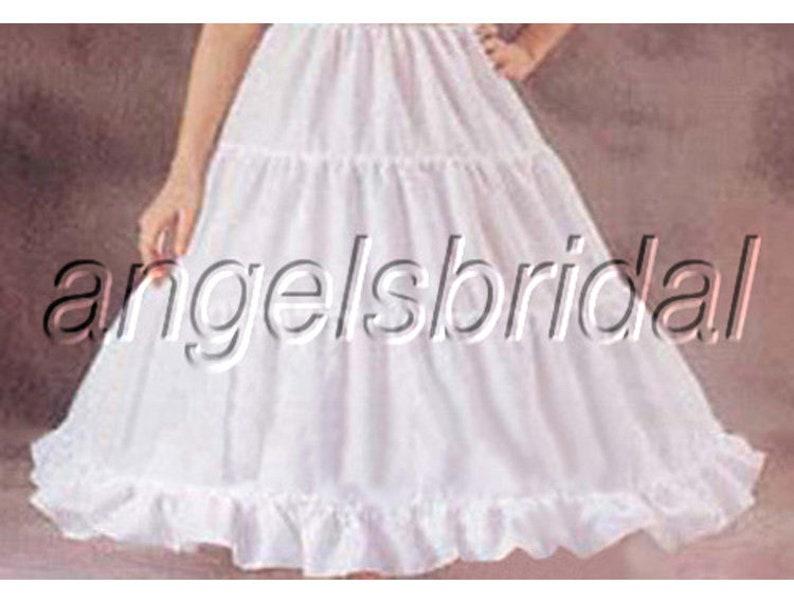 SUPER FULL A-LINE HOOPLESS BRIDAL WEDDING GOWN PETTICOAT CRINOLINE SKIRT SLIP
