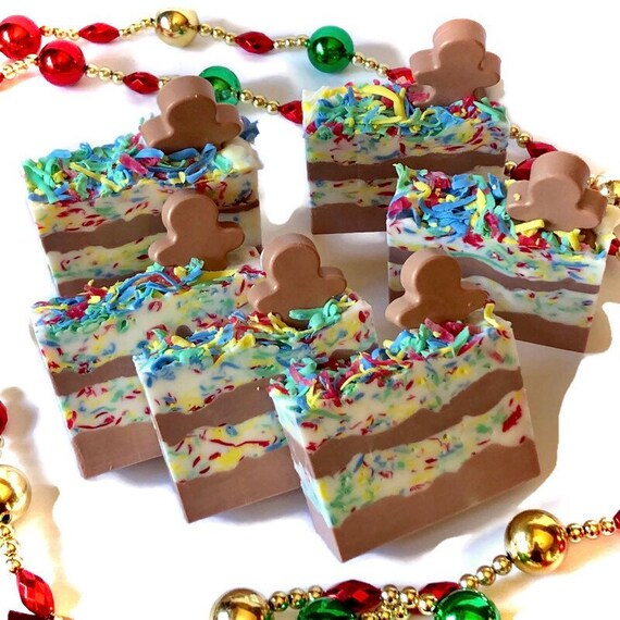 Gingerbread Handcrafted Soap Glycerin Soap Bar Christmas