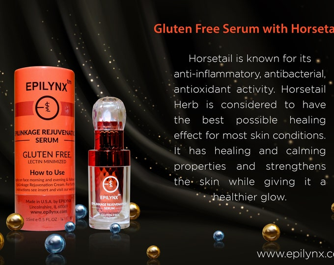 Featured listing image: Rejuvenating, Anti-Wrinkle, Anti-aging, Anti-Inflammatory Night Serum with Hyaluronic Acid and Horsetail