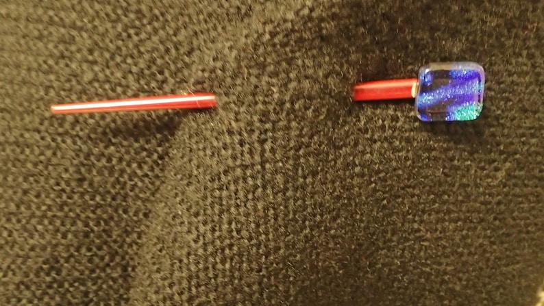 Fused Glass Jewelry Shawl Pin Hair Pin Dichroic Glass Dichroic Glass Jewelry Wood Brooches Jewelry