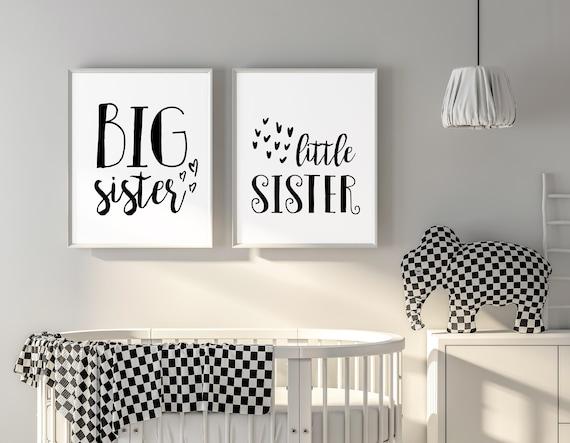 Shared Bedroom Wall Art Big Sister Little Sister Room Decor Etsy