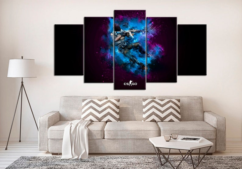 awesome Video Game Wall Art Part - 16: Counter Strike Wall Art CS GO Canvas Art Print Set Video Game   Etsy