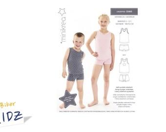 a121aa4cc3 Schnittmuster Unterwäsche Mädchen Jungen, Minikrea 33405 2-12 Jahre, Gr.  86-152, Papierschnitt, Nähanleitung, Unterhemd, Unterhose, Shirt