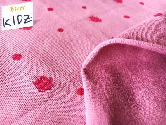 JERSEY Lillestoff Kritzelpunkte Punkte rosa pink