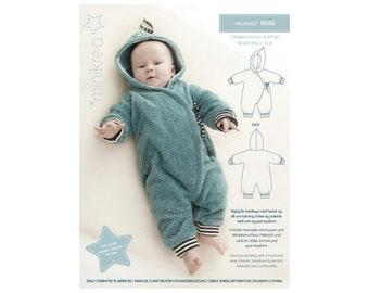 Schnittmuster Overall-Baby 10550, Gr. 50-74, Schnittmuster Babyoverall, Papierschnitt, Nähanleitung