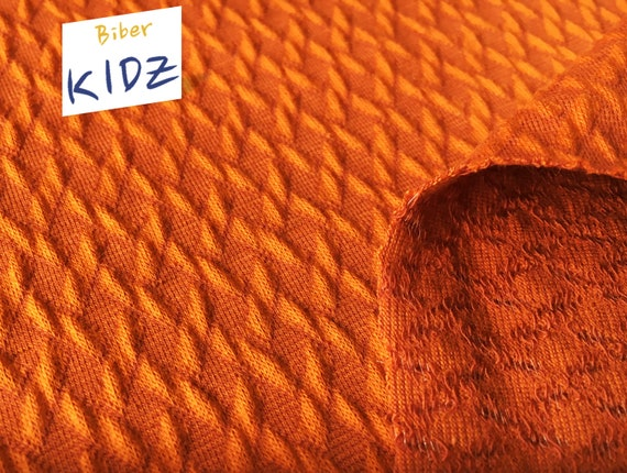 Jacquardstoff Blumen orange Meterware 92 cm breit