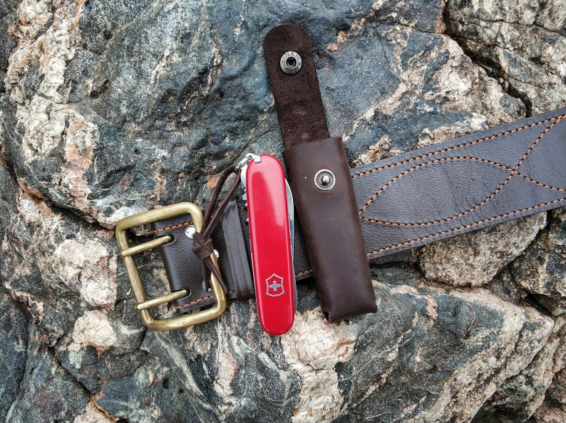 0764f682fc Leather Belt Pouch Case for Victorinox Spartan Climber Camper