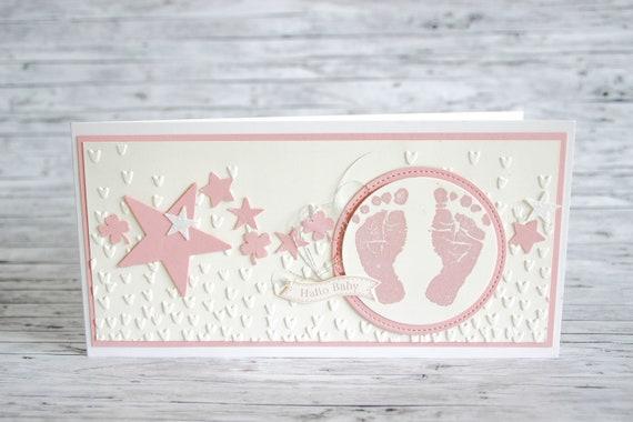 Babykarte Fussabdruck Geburt Stampin Up