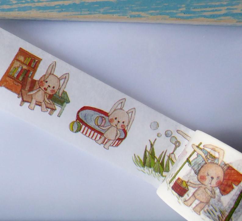Bunny Rabbit Easter Washi Tape Sample 1 x 1 m
