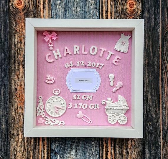 Baby Geschenk Name Bilderrahmen Geschenke zur Taufe Geburtstag Mädchen Junge
