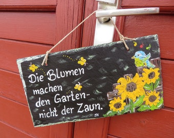 Sign for the garden decoration