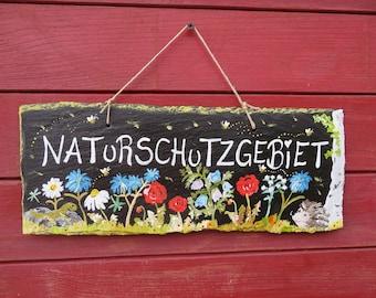 Nature Reserve Large Garden Sign