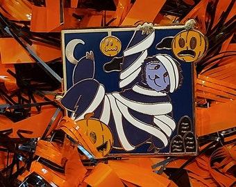 Sloth Enamel Pin, Spooky Cute Enamel Pins, Halloween, Mummy Sloth, Sloth, Enamel pin, cosplay,