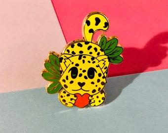 Jaguar enamel pin, Hard Enamel, Animal Pin, Cute, Gold, Nature