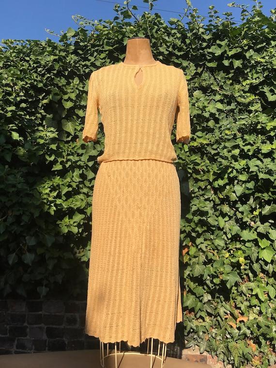 70s knitwear Designer Mary Farrin two piece