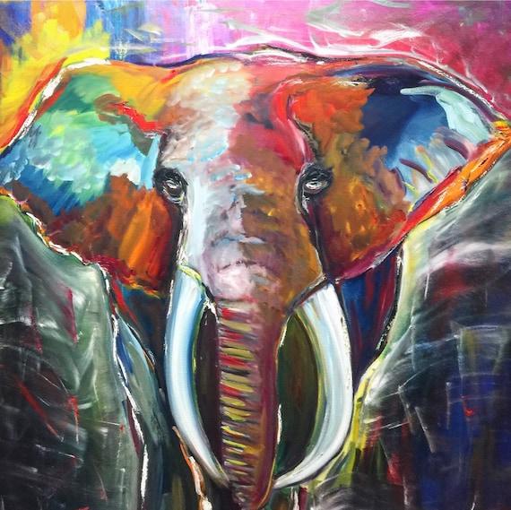 Abstract Elephant Art Prints Elephant Wall Art Elephant Gift Abstract Art Prints Elephant Art Prints Wall Art Decor Gift Ideas