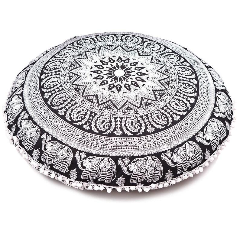 "Indian Mandala Floor Pillow Cover 32/"" Round Cushion Cover Wholesale Lot 10 Pcs"