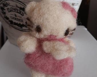 7f36b26e9 Needle felted wool Hello Kitty